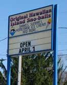 Hawaiian Snoball and Ice Cream
